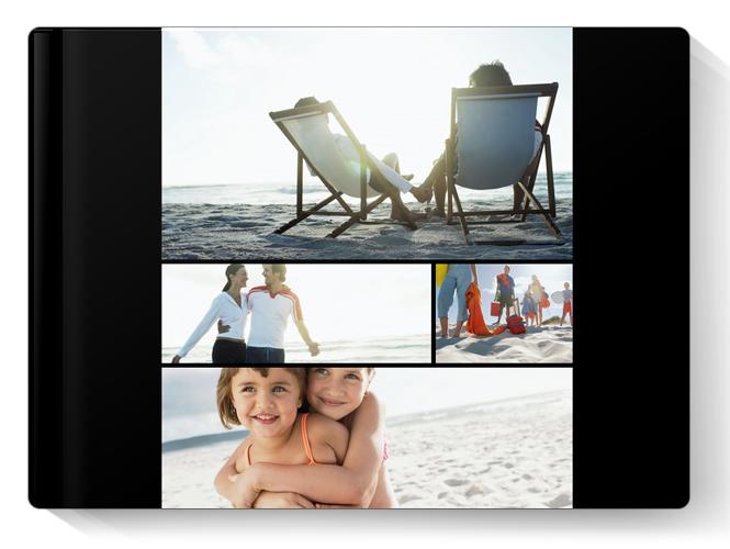Album Foto Fotocarte Simplu  Negru Format Panoramic