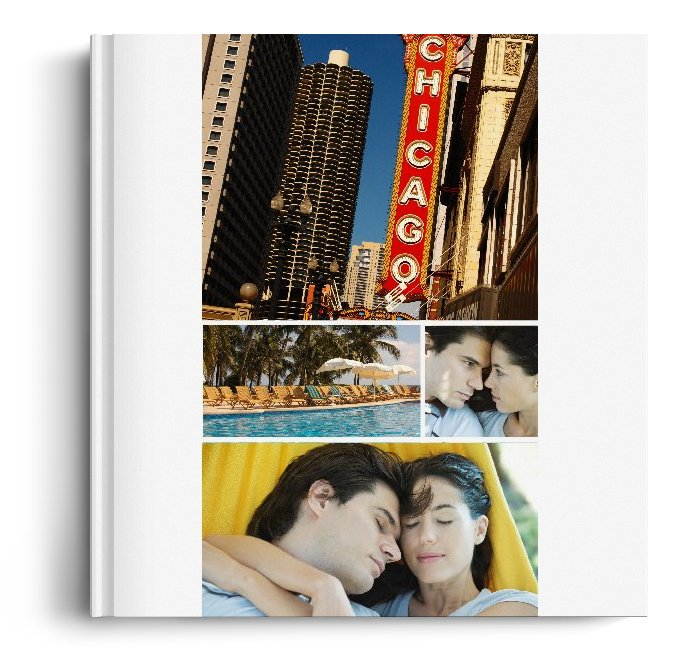 Album Foto Fotocarte Simplu  Alb Format Patrat