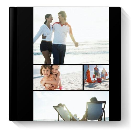 Album Foto Fotocarte Simplu  Negru Format Patrat