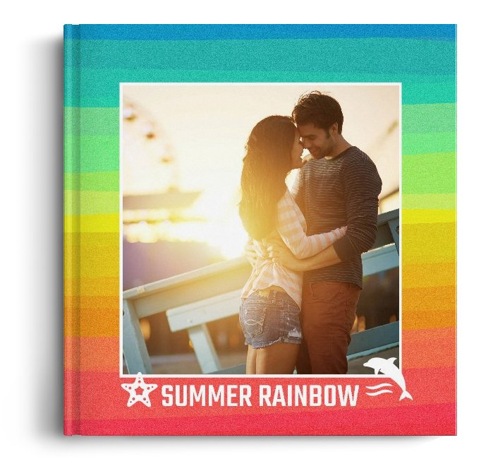 Fotocarte Rainbow - Standard, coperta moale - Panoramic mic (21x14 cm)