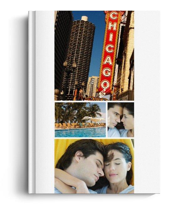 Album Foto Fotocarte Simplu  Alb Format Portret