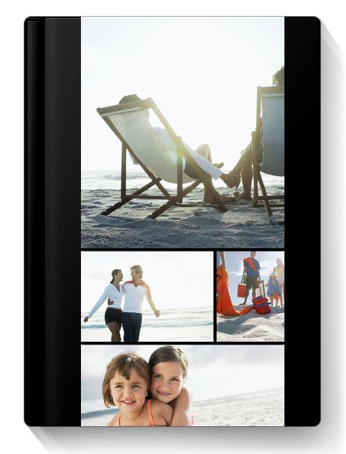 Album Foto Fotocarte Simplu  Negru Format Portret