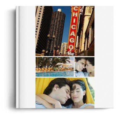 Album Foto Fotocarte Simplu  Alb Format Panoramic